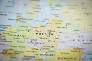 Карта Польщі - нові умови працевлаштування